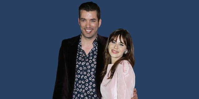 """los angeles, california   february 18 zooey deschanel and jonathan scott attend the los angeles premiere of focus features' """"emma"""" held at dga theater on february 18, 2020 in los angeles, california photo by michael tranfilmmagic"""