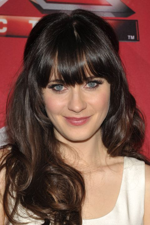 Hairstyles with bangs- Zooey Deschanel