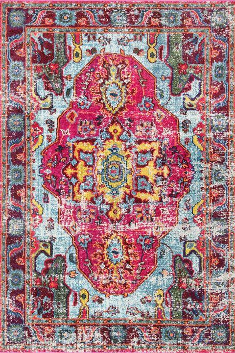 pink medallion rug
