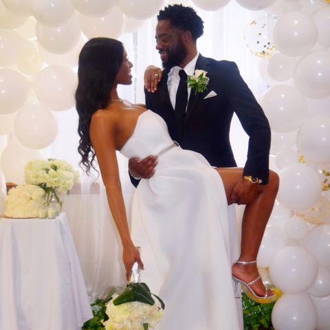 White, Bride, Wedding dress, Ceremony, Wedding, Gown, Formal wear, Dress, Bridal clothing, Marriage,