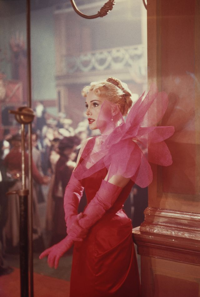 hungarian born american actress zsa zsa gabor as she appears in the film 'moulin rouge', 1952 she is wearing a dress designed by elsa schiaparelli  photo by archive photosgetty images