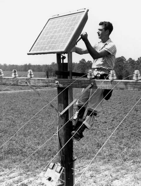 Solar panel was in old days