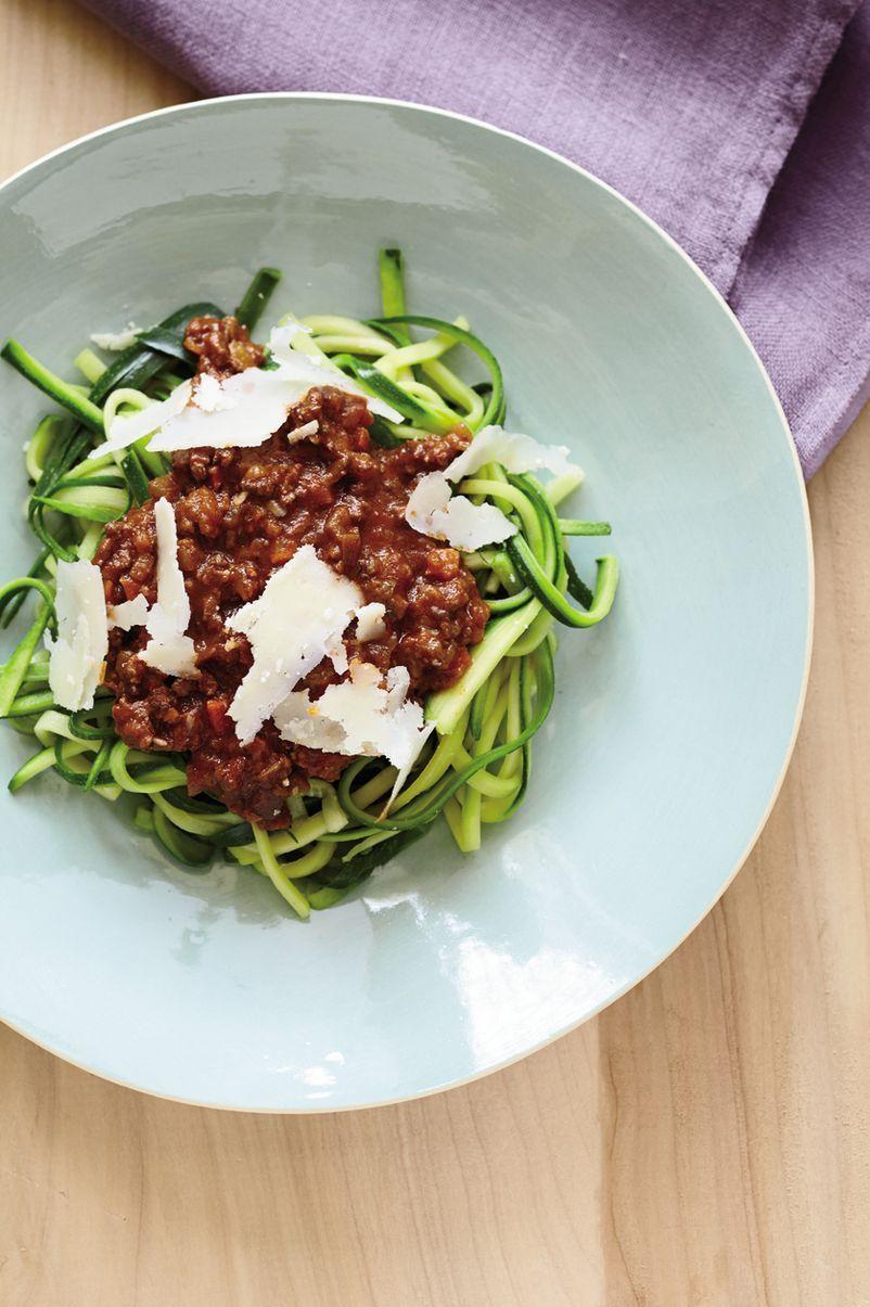 Zucchini-Linguine Bolognese