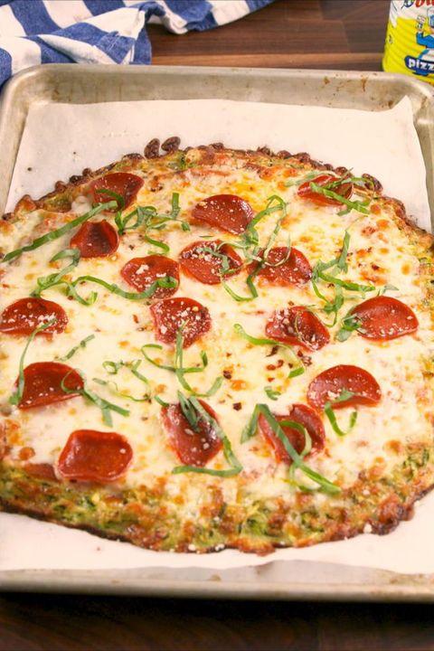 gluten free dinner - Zucchini Pizza Crust #dinner #recipe #glutenfree #gf #whole30 #healthydinner #dairyfree