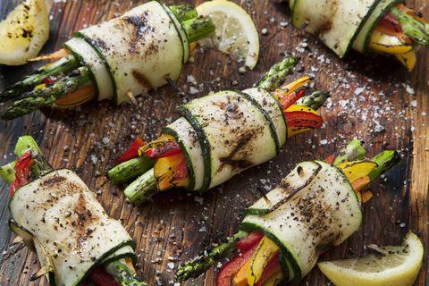 bbq zucchini rolls