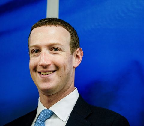 founder and ceo of us online social media and social networking service facebook mark zuckerberg reacts upon his arrival for a meeting with european commission vice president in charge for values and transparency, in brussels, on february 17, 2020 photo by kenzo tribouillard  afp photo by kenzo tribouillardafp via getty images