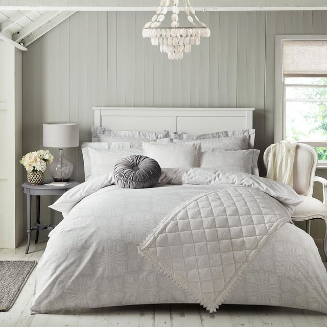 Holly Willoughby S Dunelm Bedding Range, Blush Pink And Grey Bedding Dunelm