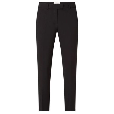Slim fit cropped pantalon met persplooi