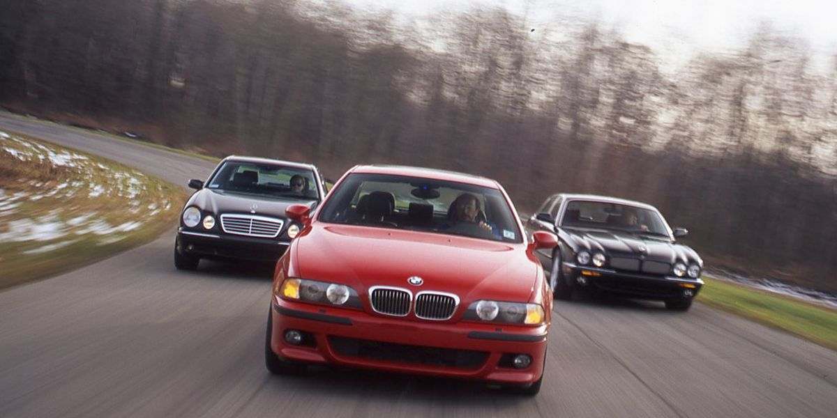 2000 BMW M5 vs  2000 Mercedes-Benz E55 AMG and 2000 Jaguar XJR