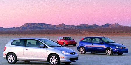 Ford Svt Focus Vs Honda Civic Si Vw Gti