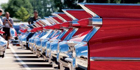 Human, Classic car, Cadillac, Classic, Steel, Antique car,