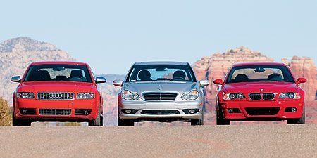 2003 Audi S4 vs  BMW M3, M-B C32 AMG