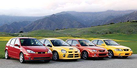 2003 Nissan Sentra Se R Spec V >> 2003 Dodge Neon Srt 4 Vs Ford Svt Focus Mazdaspeed Proteg Eacute