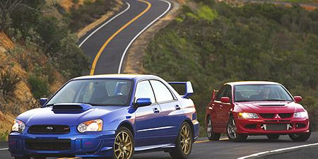 2003 Mitsubishi Lancer Evolution Vs Subaru Impreza Wrx Sti