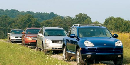 2004 Cadillac SRX vs  Infiniti FX45, Porsche Cayenne, VW Touareg