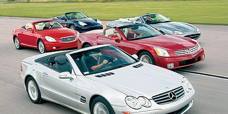 2004 Cadillac Xlr Vs Jaguar Xk8 Lexus Sc430 M B Sl500 Porsche 911 Carrera 4 Cabriolet