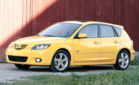 yellow 2004 mazda3