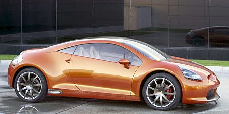 Proving That Point Is The Mitsubishi Eclipse Concept E Which Boasts A Parallel Drivetrain Composed Of Two Engines One In Front And