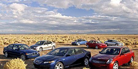 2004 Acura TL vs  Audi A4, BMW 325i, Infiniti G35, Jaguar X