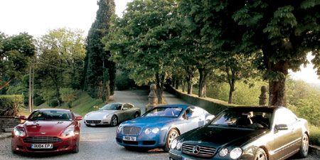 2005 Aston Martin Db9 Vs Bentley Continental Gt Ferrari 612 Scaglietti F1 M B Cl600