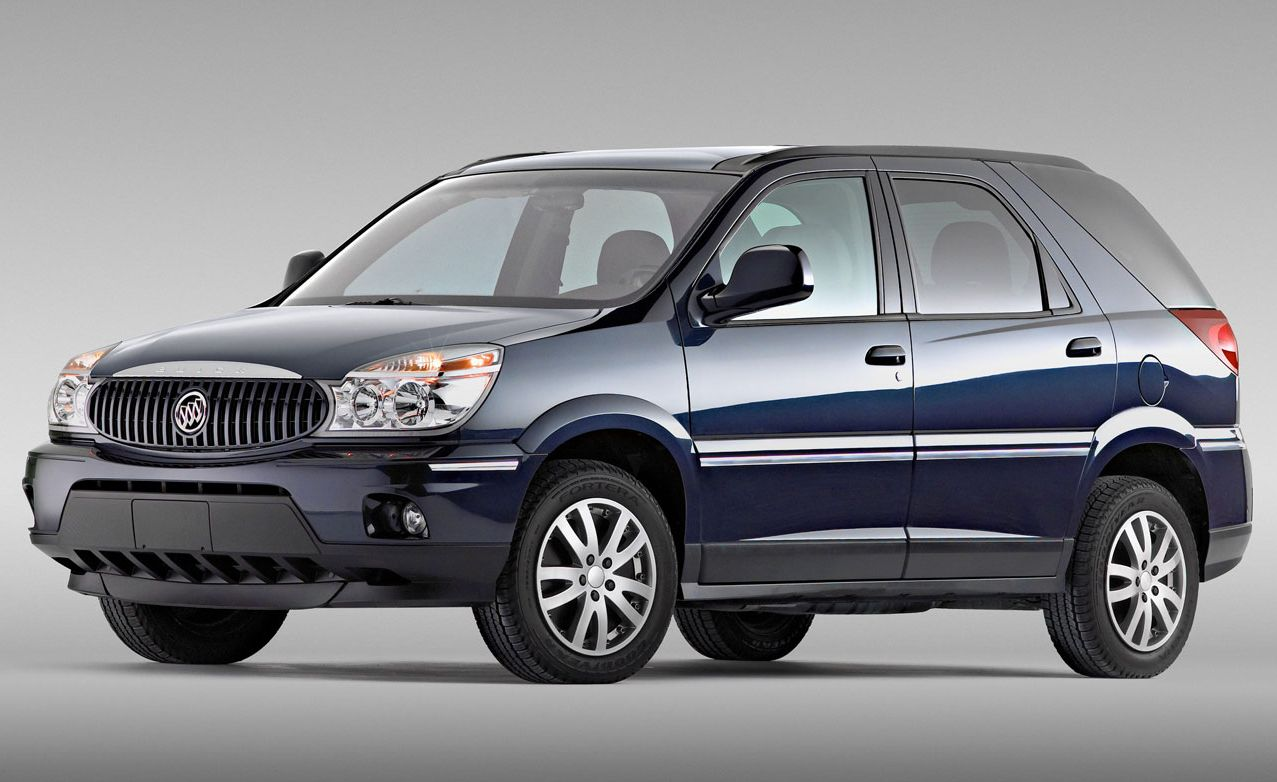 Buick Rendezvous (2002–2007) Sharing its platform and therefore its unsightly, lumpen-potato shape with the Pontiac Aztek, this poor mutant was doomed from the start. Although there is little resemblance between the Aztek and the Rendezvous, which was produced from 2002 to 2007, the Buick proved GM's design studio could make many of the same mistakes twice.