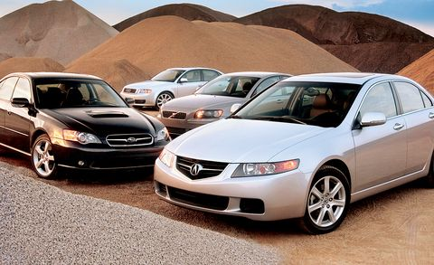 Four Sports Sedans from 2004 Compared and Ranked