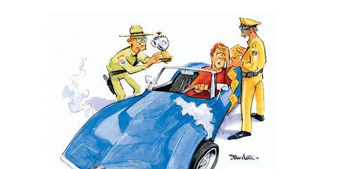 Motor vehicle, Automotive design, Fender, Cartoon, Automotive wheel system, Electric blue, Classic car, Hood, Illustration, Job,