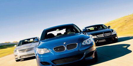 2006 Bmw M5 Vs 2006 Cadillac Sts V Vs 2006 Mercedes Benz Cls55 Amg