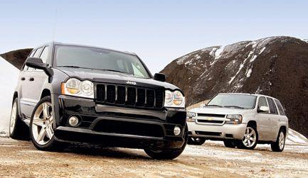 2006 jeep grand cherokee srt8 suv, 2006 chevrolet trailblazer ss suv