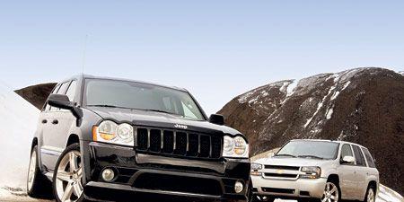 2006 Jeep Grand Cherokee Srt8 Vs Chevrolet Trailblazer Ss