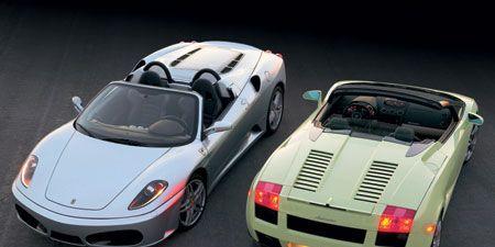 2006 Ferrari F430 Spider F1 Vs Lamborghini Gallardo Spyder