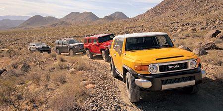 2007 hummer h3, 2006 jeep grand cherokee, 2006 nissan xterra, 2006 toyota fj cruiser