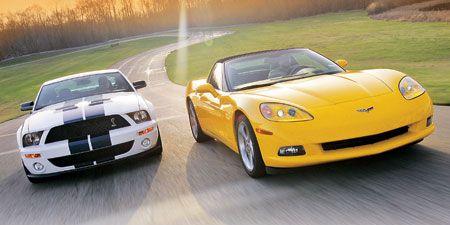 2006 Chevrolet Corvette vs  2007 Ford Mustang Shelby GT500