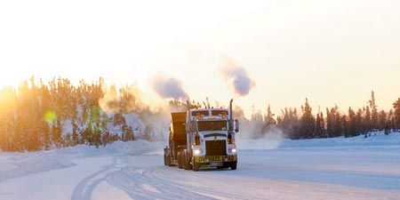 Motor vehicle, Winter, Mode of transport, Transport, Road, Freezing, Truck, Automotive tire, Snow, Rolling,