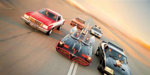 Batmobile Vs Starsky Hutch Gran Torino Back To The Future De