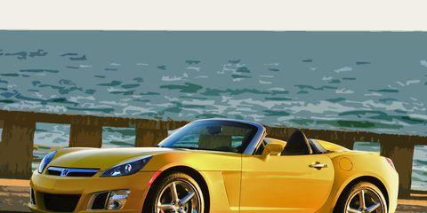 Tire, Wheel, Automotive design, Vehicle, Yellow, Land vehicle, Hood, Car, Automotive lighting, Headlamp,