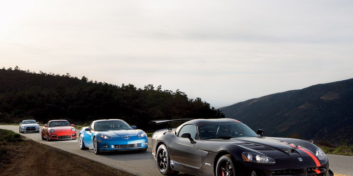 Chevrolet Corvette Z06 vs  Dodge Viper SRT10 ACR, Nissan GT-R