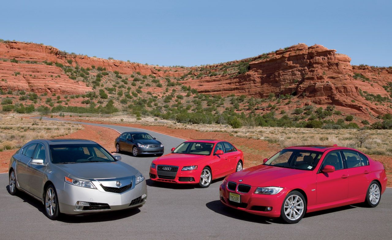 2009 Infiniti G37 vs  BMW 328i, Audi A4, and Acura TL