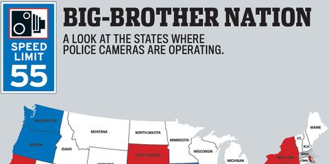 States That Use Red-Light and Speed Cameras to Monitor Your