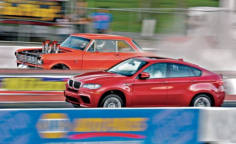 2010 bmw x6 m at the track