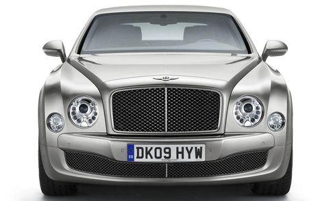Automotive design, Vehicle, Land vehicle, Grille, Automotive lighting, Headlamp, Hood, Car, Bentley, White,
