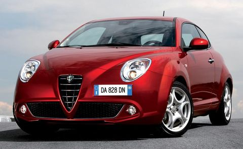 Motor vehicle, Mode of transport, Automotive design, Vehicle, Automotive mirror, Land vehicle, Alfa romeo mito, Car, Red, Automotive exterior,