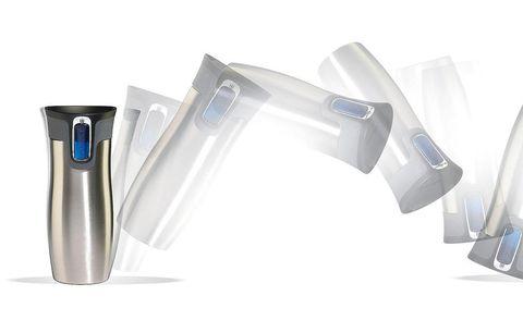 Product, Blue, Azure, Aqua, Drinkware, Plastic, Cylinder, Personal computer hardware, Silver, Steel,