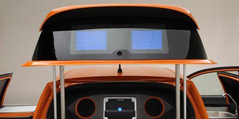 Automotive design, Orange, Bumper, Machine, Water transportation, Hood, Paint, Supercar, Trunk, Kit car,