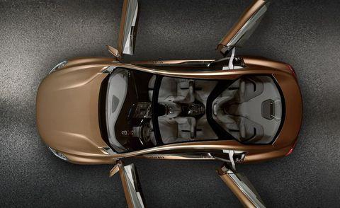 Automotive design, Automotive mirror, Automotive side-view mirror, Beige, Luxury vehicle, Rear-view mirror, Personal luxury car, Baggage, Still life photography, Gadget,