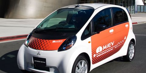 mitsubishi i-miev electric car prototype - instrumented