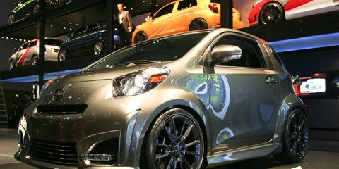 Wheel, Tire, Motor vehicle, Automotive design, Vehicle, Land vehicle, Scion iq, Automotive wheel system, Car, Auto show,