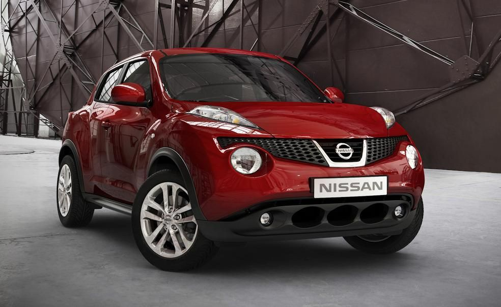"""Nissan Juke (2011–2017) According to Nissan, the Juke's greenhouse resembles the visor of a motorcycle helmet and the small SUV's curvy fenders evoke the so-called """"Coke bottle"""" styling popular in the late 1960s. It sound pretty cool, but in reality the Juke's design is a hot mess, exacerbated by a painfully overdesigned, frog-like front end the likes of which hadn't been seen since the Aztek was put down in 2005."""