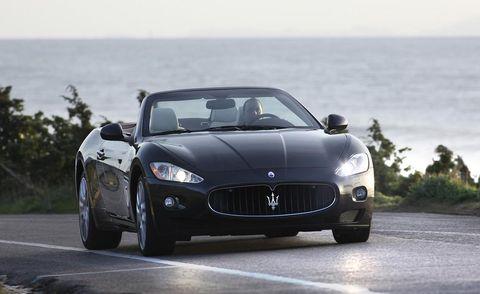 Automotive design, Mode of transport, Vehicle, Road, Performance car, Car, Hood, Grille, Maserati, Automotive mirror,