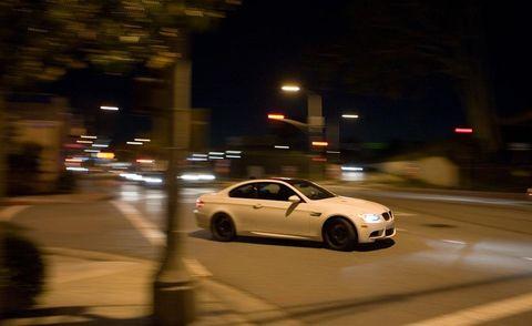 Automotive design, Road, Night, Vehicle, Automotive lighting, Infrastructure, Automotive mirror, Rim, Headlamp, Car,